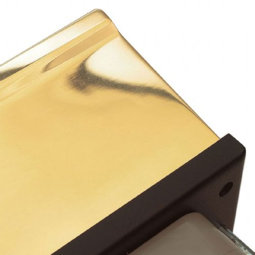 Intumescent Fire - Smoke & Acoustic Rated Telescopic Letter Box System 12 inch Polished Brass